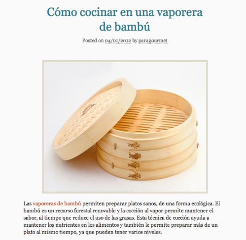 Cómo cocinar en una vaporera de bambú