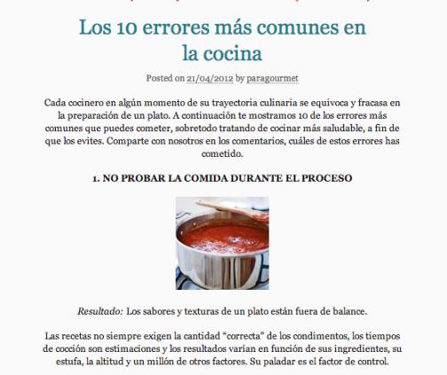 10 errores más comunes ne la cocina